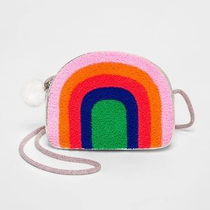 Girls' Rainbow Chenile Crossbody Purse